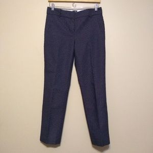 Talbots Newport 4p career pants navy and white